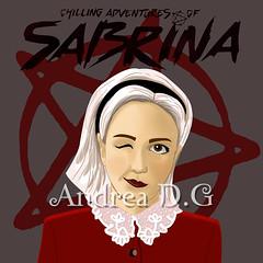 Sabrina, ilustración digital (andreadg85) Tags: chilling adventures sabrina teenage witch bruja adolescente salem siernan shipka digital art artist illustrator photoshop illustration