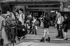 Her Part Time Job Is Car Crusher (burnt dirt) Tags: asian japan tokyo shibuya station streetphotography documentary candid portrait fujifilm xt1 bw blackandwhite laugh smile cute sexy latina young girl woman japanese korean thai dress skirt shorts jeans jacket leather pants boots heels stilettos bra stockings tights yogapants leggings couple lovers friends longhair shorthair ponytail cellphone glasses sunglasses blonde brunette redhead tattoo model train bus busstation metro city town downtown sidewalk pretty beautiful selfie fashion pregnant sweater people person costume cosplay boobs