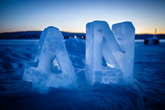 Ice Sculpture (Stoner Two Shoes) Tags: ice sculpture icehotel sweden cold snow glow hotel