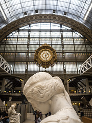 Paris 2019: What's the time? (mdiepraam) Tags: paris 2019 muséedorsay museum art statue building architecture interior clock