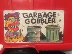garbage gobbler (timp37) Tags: sticker garbage gobbler truck toy 1970