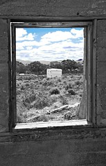 Silverton. NSW. Australia. 2017 (4ebees) Tags: black white bw country landscape caravan australia