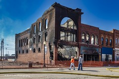 Still smoking (Kool Cats Photography over 11 Million Views) Tags: fire architecture building buildingfire guthrie guthrieoklahoma aftermath gutted destroyed vintage history oklahoma historic historical