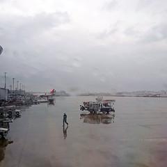 airport in rain (Steve only) Tags: sony xperia xzs cellphone snap sky cloud japan airport rainy rain peopleinthecity