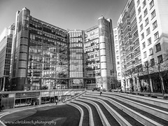 Sheldon Square (www.chriskench.photography) Tags: england unitedkingdom bw greatbritain gb urban city copright monochrome london cities britain a1000 buildings architecture nikon kenchie blackandwhite coolpix uk