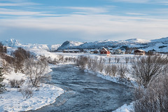 River landscape on Vestvågøya, Lofoten (Petra Schneider photography) Tags: lofoten lofotenislands vestvågøya norge norway nordland northernnorway nordnorwegen river winter winterday winterlandschaft wintermood winterwonderland snow