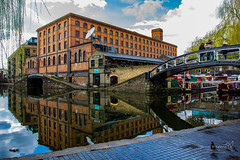 London 24 March 2015-0067.jpg (JamesPDeans.co.uk) Tags: unitedkingdom britain transporttransportinfrastructure england london camden gb greatbritain water industry landscape reflection europe uk canals