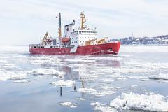 Amundsen (Philippe POUVREAU) Tags: jaune amundsen québec ship navire briseglace fleuve canada scientifiques saintlaurent frozen glace hiver winter 2019 odysséesaintlaurent river canon
