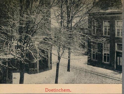 Mooi Nederland kalenderplaatjes 1907 II  Doetinchem winter