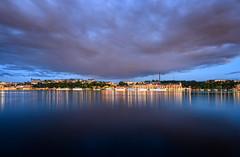 Clouds of South Ore (henriksundholm.com) Tags: landscape waterscape reflections water lake riddarfjärden södermalm kungsholmen clouds sky ships boats dusk hdr stockholm sverige sweden