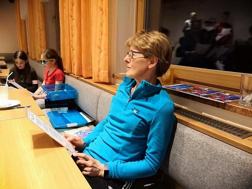 Ständchen für Waltraud H. bei ihrem letzten Skikurs