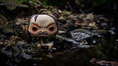 Golum (Lincs camera man) Tags: rock toy water head nature outdoors tree moss wood actionfigure outdoor small forest photography plant sitting green river rocky lotr funko funkopop