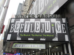 Beetlejuice The Musical Winter Garden Theater Marquee 4385 (Brechtbug) Tags: beetlejuice the musical winter garden theater marquee display 2019 nyc broadway 7th ave 51st street ben cooper halco collegeville monster creature graveyard ghoul dead guy moss hair green stripes fashion mutants villains tim burton film movie 1988 80s 1980s figure hell purgatory beatle beetle juice ghost with most michael keaton possession exorcist betelgeuse exorcism haunt