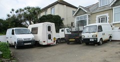 Commercial Kei Collection (occama) Tags: e605auf 1987 honda acty dy05gmo 2005 suzuki carry k376ocv 1992 kei van pickup romahome japanese small collection cornwall uk