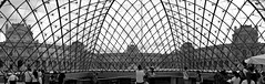 New meets old (Valantis Antoniades) Tags: inside pyramid louvre new meets old paris france modern architecture monochrome black white