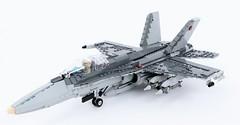 CF-18 'Hornet' (Corvin Stichert) Tags: lego plane fighter jet aircraft canada hornet boeing mcdonnell douglas f18 cf18