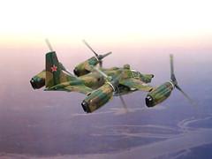 "1:72 Rostov Tilt Rotor Aircraft Company РТАК-30 (NATO ASCC code ""Hemlock""); 3rd prototype ""33 Yellow"" during state acceptance trials; Zhukovsky (Moscow Oblast), 1987 (Whif/kitbashing) (dizzyfugu) Tags: 172 mil mi30 vintoplan vintokryl tiltrotor aircraft model whatif whif fictional aviation quadrocopter hunter killer attack helicopter ka50 ka52 mi28 mi24 kitbash dizzyfugu modellbau tactical camouflage prototype test rostov ростов тилт ротор авиационная компания ртак"