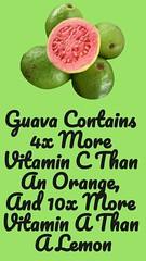 Guava Contains 4x More Vitamin C Than An Orange, And 10x More Vitamin A Than A Lemon (healthylife2) Tags: guavacontains4xmorevitamincthananorange and10xmorevitaminathanalemon