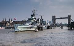 London (romanboed) Tags: leica m 240 europe uk gb united kingdom great britain england london spring travel river thames tower bridge ship war summilux 50