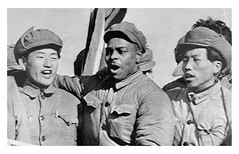 POW sings Internationale with Chinese and Koreans: 1954 (Washington Area Spark) Tags: prisoner war pow repatriation refuse turncoat traitor communist korea people's republic china clarence adams black african american 1954 antiwar racism white supremacy