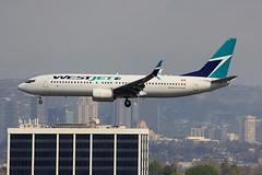 B737 C-FRWA Los Angeles 22.03.19 (jonf45 - 5 million views -Thank you) Tags: airliner civil aircraft jet plane flight aviation lax los angeles international airport klax westjet boeing 737 cfrwa