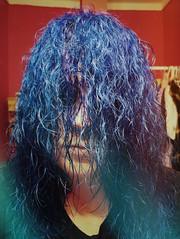 songs (MadMadelyne) Tags: vsco phonephotography bluehair spooky rilke solitude blue hair hidden