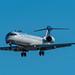 United Express Bombardier CRJ-700ER from Denver landing at SBA
