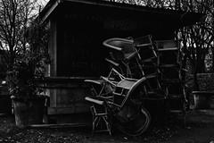 Waiting for the sunny days... (julienprost71) Tags: blackandwhite black white noir et blanc low key lowkey canon 50mm f18 stm eos 6d paris chaises