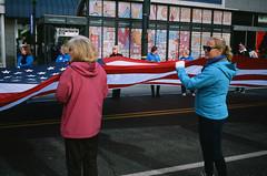 Veterans Day Parade // Philadelphia (bior) Tags: canoneos3 ef40mmf28stm provia provia100f fujifilmprovia 35mmfilm slidefilm philadelphia pennsylvania parade flag street veteransday