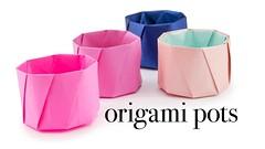 Round Origami Pot Tutorial - Cup / Vase - Paper Kawaii (paperkawaii) Tags: origami instructions paperkawaii papercraft diy how video youtube tutorial