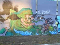 belin fonk (en-ri) Tags: idb gulsah turtle tartaruga girl ragazza verde treno tav torino wall muro graffiti writing parco dora notav