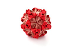 Маша, с днём рождения! (ronatka) Tags: kusudama modularorigami square red birthday gift whitebackground ef40mmf28stm