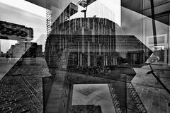Strategies Against Architecture VII (Tom Putzke) Tags: städte doppelbelichtung köln kranhäuser architektur sw black white cologne rhine nrw deutschland urban mehrfachbelichtung sky himmel clouds wolken fassade fassaden flächen cladding colonia architecture altstadt südstadt brt mipimaward