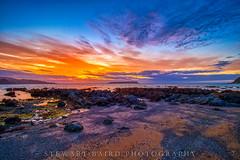 Purple Sunset (stewartbaird) Tags: blue plimmerton beach landscape sunset gold purple red summer sky seascape wellington clouds newzealand sea
