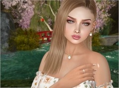 The Call of the Nature - Portrait (Rose Sternberg) Tags: liz shape for genus bento project baby face head maitreya lara body second life event hairstyle april 2019 hair style fashion doux andore safira fleur dress spring flair wedges valley cute babyrose earring necklace owl euphoric eyes mishi