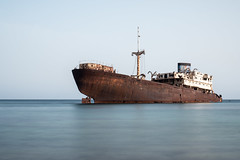 Telamon (Miha Pavlin) Tags: canary island telamon ship shipwreck sea port old longexposure
