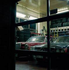 Midnight Garage (Brjann.com) Tags: 120film kodak portra800 hasselblad 501cm analog film street photography night