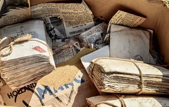 Suitcases of Memories (daisyglade) Tags: letters mail paper snailmail lovepaper wrappedwithstring preciousmemories timeaftertime writtenword treasure sustainable personal purposeful