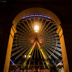 At the doors of the Tuilerie Garden (bonnefoymarc) Tags: france paris christmas christmasmarketsparis thebigwheel streetphotography