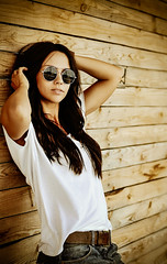 Beautiful young stylish woman in sunglasses (ClvvssyPhotography) Tags: ifttt 500px lady female jeans woman girl brunette white shirt young smile eyewear beautiful outside outdoors natural light fashion portrait poses nikon camera favorites