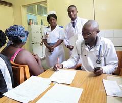 Kitwe staff w. patient