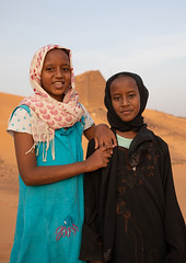 Portrait of sudanese girls visiting the pyramids of the kushite rulers at Meroe, Northern State, Meroe, Sudan (Eric Lafforgue) Tags: africa ancient ancientcivilization archaeology architecture blackpharaohs cemetery children childrenonly colorimage day desert famousplace girls lookingatcamera mausoleum meroe meroitic northsudan northerncemetery nubia outdoors photography placeofburial pyramid saharadesert sudan sudan180930 thepast tomb tourism tourists tranquilscene travel traveldestinations twopeople unescoworldheritagesite vertical waistup northernstate sd