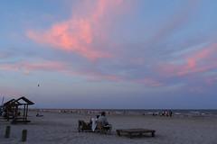 Corpus Christi - Evening Sky (Drriss & Marrionn) Tags: corpuschristi texas usa water sea bay ocean coast coastline people beach waterfront padreisland bobhallpier sky eveningsky cloud clouds eveningcolours sunset