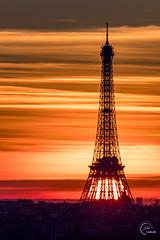 Sunrise 🔥🔥🔥 (Julien CHARLES photography) Tags: eiffel eiffeltower europe france paris toureiffel architecture cloud colors light orange red sunrise view