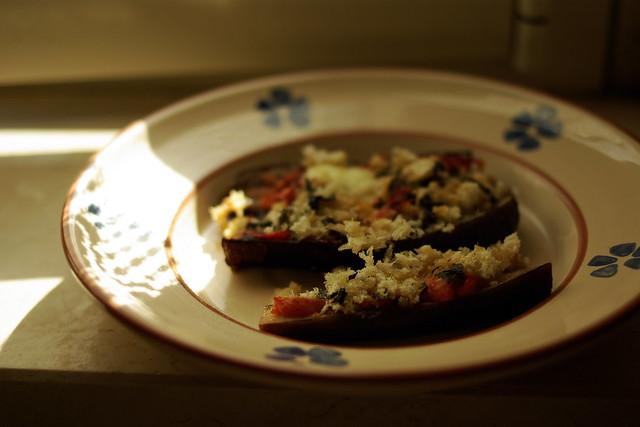 melanzane incrociate al forno