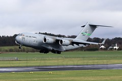 C17  90166 (TF102A) Tags: aviation aircraft airplane prestwick prestwickairport usaf usairforce c17 90166