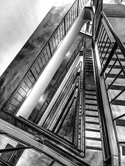 RR-1 (Dennis Yip) Tags: minimal clean dark canada britishcolumbia vancouver spiral stairs architecture black white lines beautiful design interior city sharp monochrome style