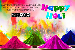 May the colors of Holi make your life as colorful and happy as they are. Wish you a very Happy Holi !! (yoyo_fashion) Tags: holi happyholi love holifestival bollywood colorrun holipowder like festival india colors celebration yoyofashion happiness wishes colorfullife