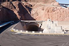 Parking Lot to Oblivion (jbp274) Tags: hooverdam cliffs landscape dam structure spillway parkinglot road bridge