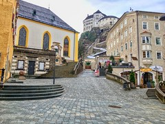 Fortress in Kufstein, Tyrol, Austria (UweBKK (α 77 on )) Tags: österreich fortress old town church building architecture city kufstein tyrol tirol austria europe europa iphone